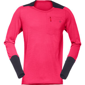 Norrøna Skibotn Wool Equaliser Long Sleeve Shirt Men Jester Red bei fahrrad.de Online