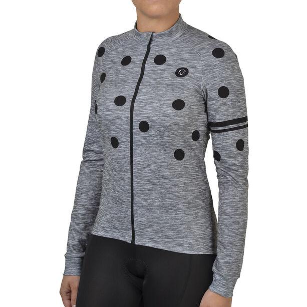 AGU Essential Dot Longsleeve Jersey Damen melange dove grey