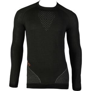 UYN Fusyon UW LS Shirt Herren caviar/beige/bordeaux caviar/beige/bordeaux