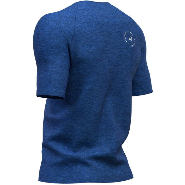 Compressport Training Mont Blanc 2019 SS T-Shirt Herren blue