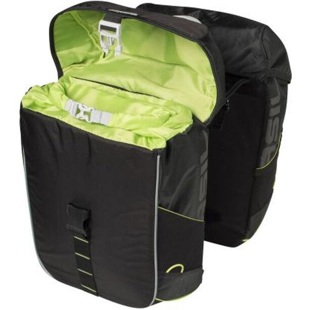 Basil Miles Double Pannier Bag 34l black lime