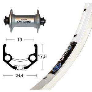 Ryde Zac 19 Vorderrad 28x1.75 Deore silber bei fahrrad.de Online