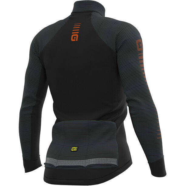 Alé Cycling Graphics PRR Thermo Road Jersey Herren black-fluo yellow
