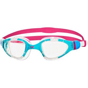Zoggs Aqua Flex Goggles blue/pink/clear blue/pink/clear