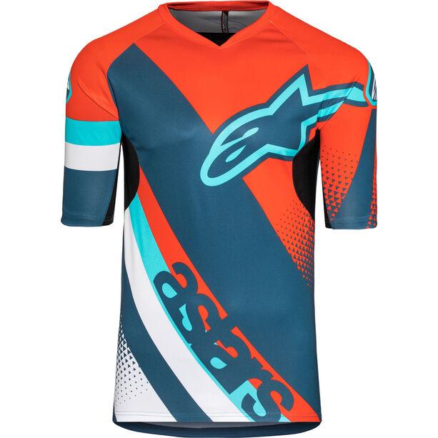 Alpinestars Racer Shortsleeve Jersey Herren energy orange/poseidon blue
