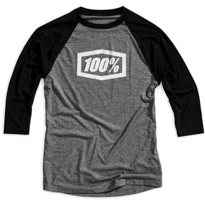 100% Essential 3/4 Tech Tee Herren grey/black grey/black