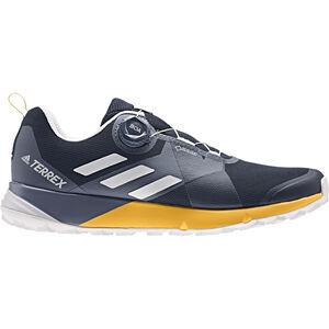 adidas TERREX Two Boa GTX Low-Cut Schuhe Herren collegiate navy/grey one/active gold collegiate navy/grey one/active gold