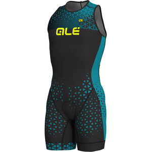 Alé Cycling Rush Olympic Tri Sleeveless Unitard Short Herren black-ottanio black-ottanio