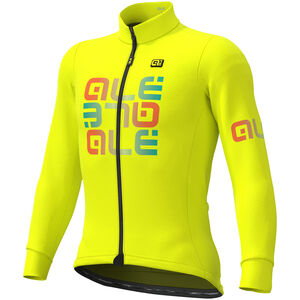 Alé Cycling Solid Mirror Winter Trikot Herren fluo yellow fluo yellow