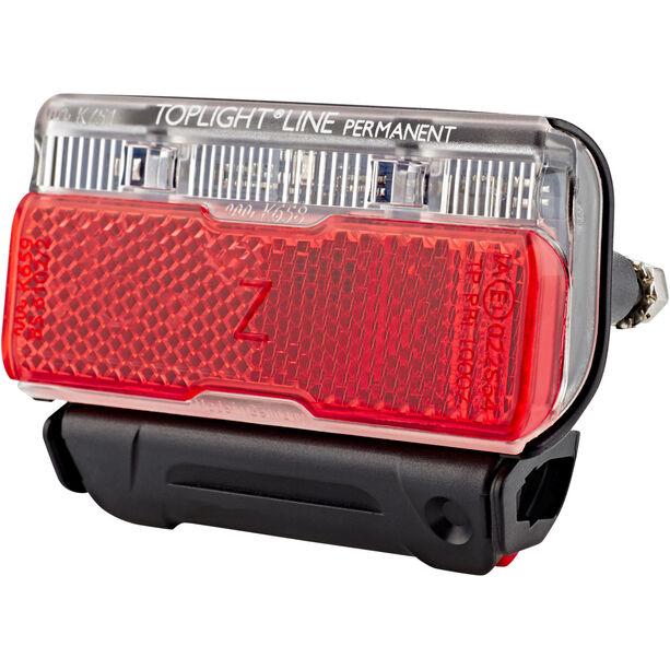 Busch + Müller Toplight Line Batterie-Rücklicht permanent, 80 mm schwarz/rot