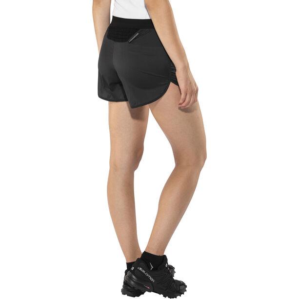 X-Bionic Aero Running Pants Short Damen black/white