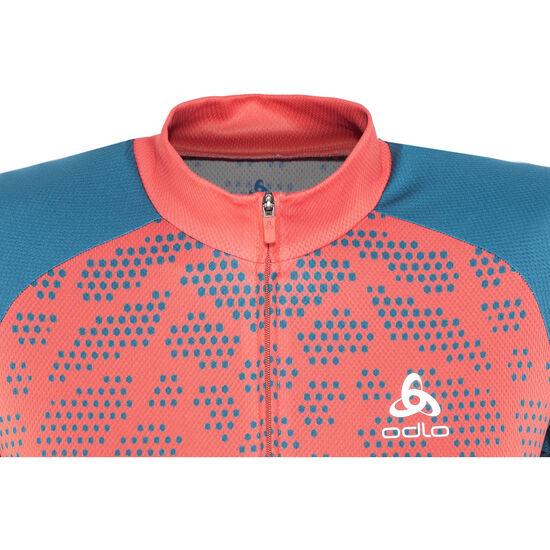Odlo Fujin Print Stand-Up Collar SS Full Zip Shirt Women bei fahrrad.de Online