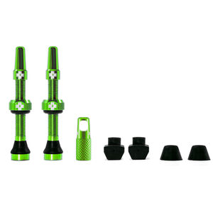 Muc-Off MTB & Road Tubeless Valve Kit 60mm green green