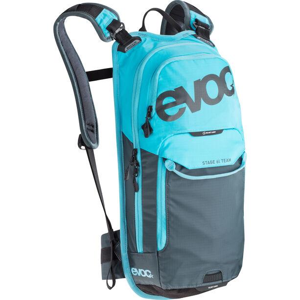 EVOC Stage Team Technical Performance Pack 6 L + Hydration Bladder 2 L neon blue-slate