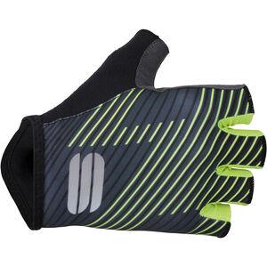Sportful Bodyfit Team Faster Gloves black/dark grey/yellow fluo black/dark grey/yellow fluo