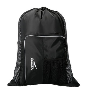 speedo Deluxe Ventilator Mesh Bag 35l black/white black/white