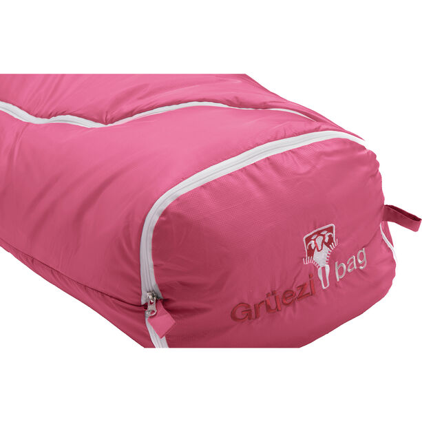 Grüezi-Bag Biopod Wool World Traveller Sleeping Bag Kinder claret red