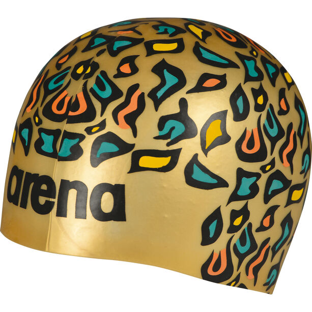 arena Poolish Moulded Swimming Cap animalier gold