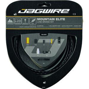 Jagwire Mountain Elite Link Bremszugset schwarz schwarz