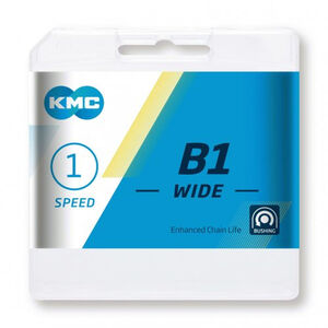 KMC B1 Wide Kette 1-fach silver silver