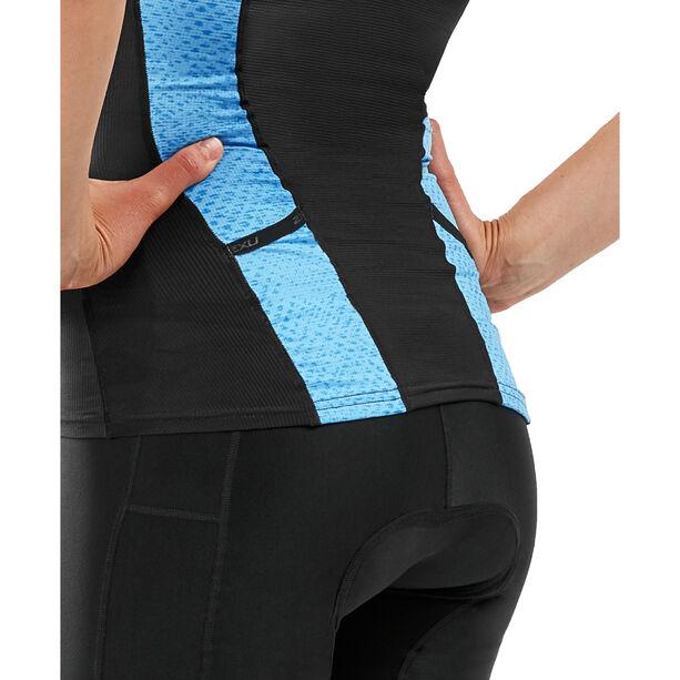 2XU Perform Tri Singlet Damen black/aquarius mesh print