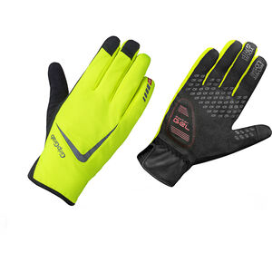 GripGrab Cloudburst Hi-Vis Waterproof Midseason Gloves fluo yellow fluo yellow