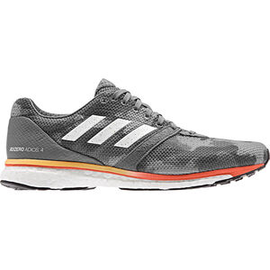 adidas Adizero Adios 4 Shoes Herren grey four/footwear white/solar orange grey four/footwear white/solar orange