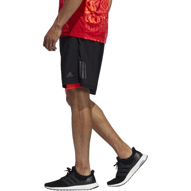 "adidas OWN The Run 2N1 Shorts 5"" Herren black/solar red"