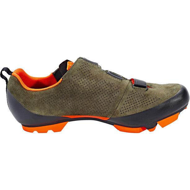 Fizik Terra X5 Suede MTB Schuhe Herren grün/orange fluo grün/orange fluo