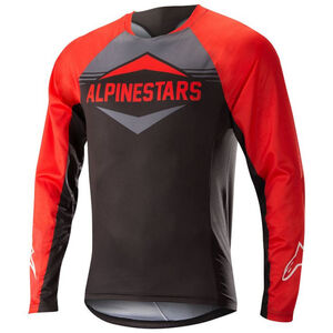 Alpinestars Mesa Longsleeve Jersey Men red/steel gray