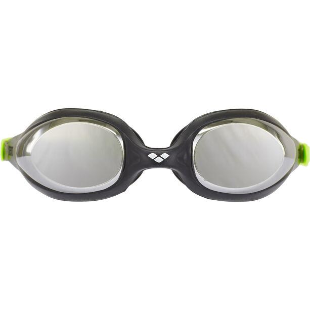 arena Spider Mirror Goggles Kinder black-silver-green