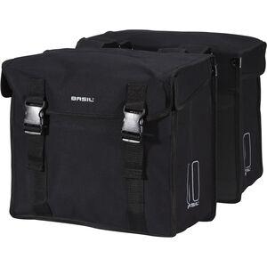 Basil Kavan Doppel-Gepäckträgertasche schwarz schwarz