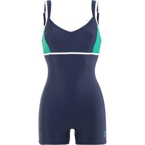 arena Venus Combi Bodysuit Women navy-persian green-white