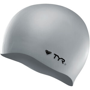 TYR Silicone Cap No Wrinkle silver silver