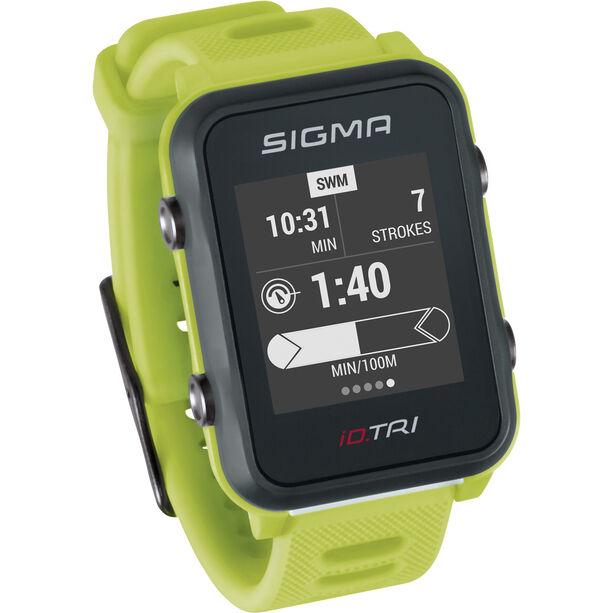 SIGMA SPORT iD.TRI Basic Multisport-Uhr neon green