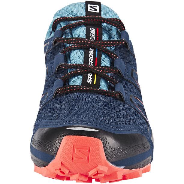 Salomon Speedcross Vario GTX Trailrunning Schuhe Damen slateblue/blue gum/coral punch
