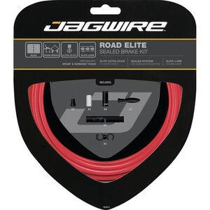 Jagwire Road Elite Sealed Bremszugset rot rot