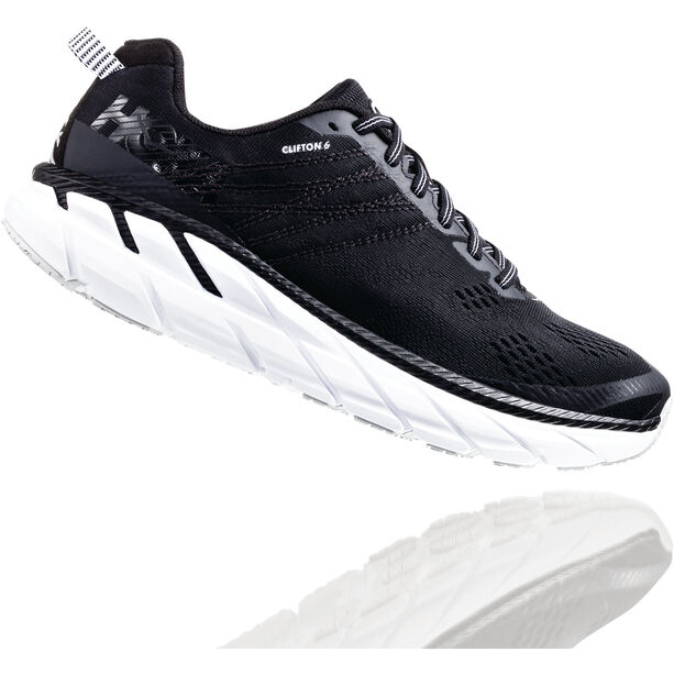Hoka One One Clifton 6 Wide Schuhe Herren black/white