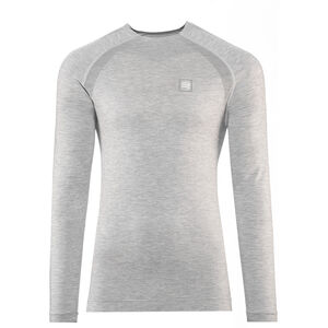Compressport Training T-Shirt Langarm grey melange grey melange