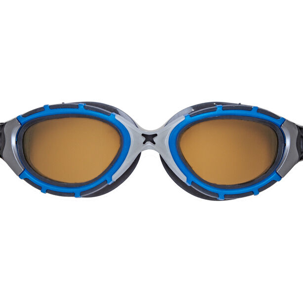 Zoggs Predator Flex Polarized Ultra Reactor Goggles S blue/metallic silver/copper
