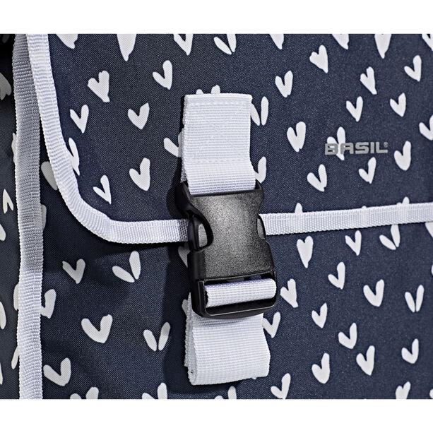Basil Mara XL Doppel-Gepäckträgertasche 35l heart dots