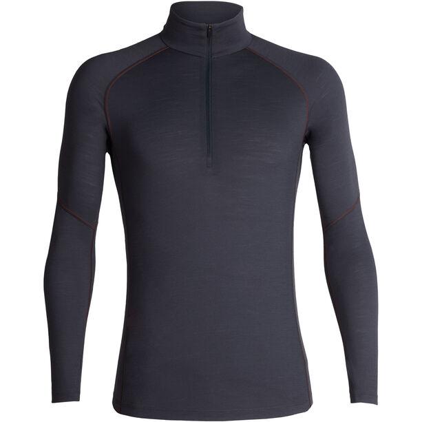 Icebreaker 150 Zone LS Half-Zip Shirt Herren monsoon-chili red