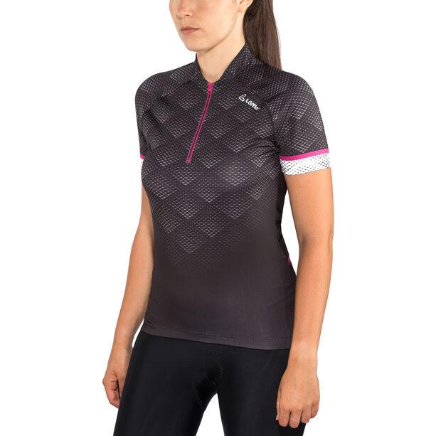 Löffler Jessy Bike Jersey Half-Zip Damen schwarz/berry