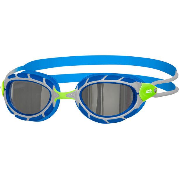 Zoggs Predator Mirror Goggles Kinder green/blue/mirror