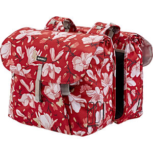 Basil Magnolia Double Pannier Bag 35l poppy red poppy red