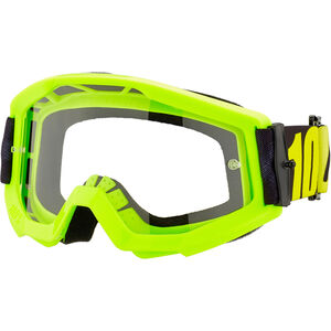 100% Strata Anti Fog Clear Goggles Jugend neon yellow neon yellow