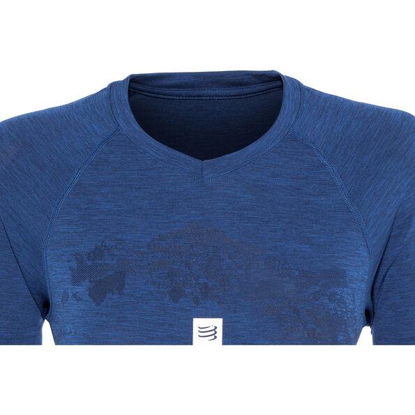Compressport Training Mont Blanc 2019 SS T-Shirt Damen blue