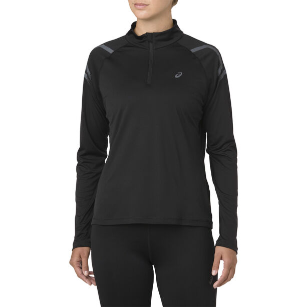 asics Icon LS 1/2 Zip Top Women performance black/dark grey performance black/dark grey
