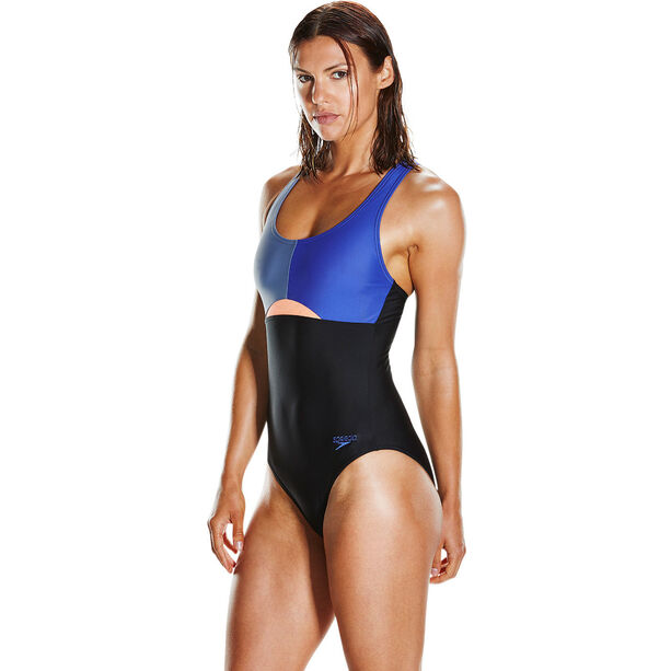 speedo HydrActive Swimsuit Damen black/vita grey/diva black/vita grey/diva