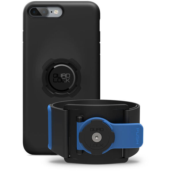Quad Lock Run Kit - iPhone 7/8 PLUS schwarz/blau